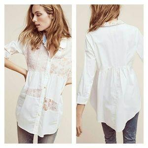 Anthropologie Mavis Patchwork Buttondown shirt M